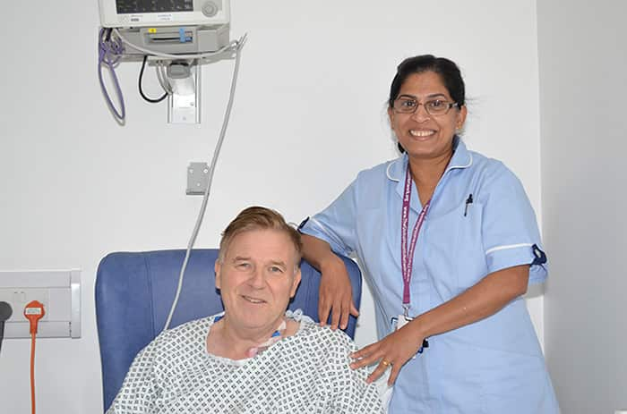 Clive Reams with Research Nurse Saji Victor - Case Studies