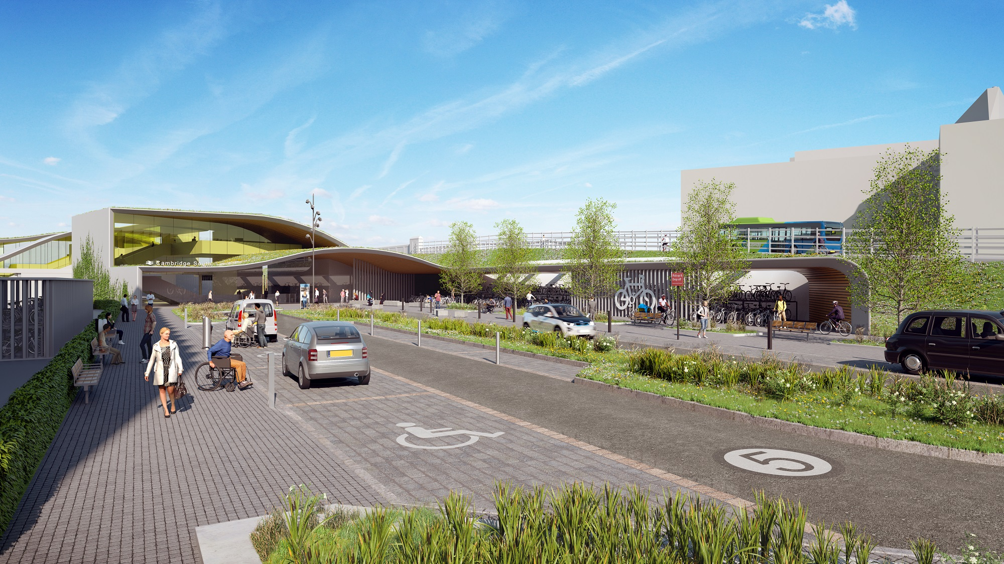 Indicative visualisation of Cambridge South station from the east - News